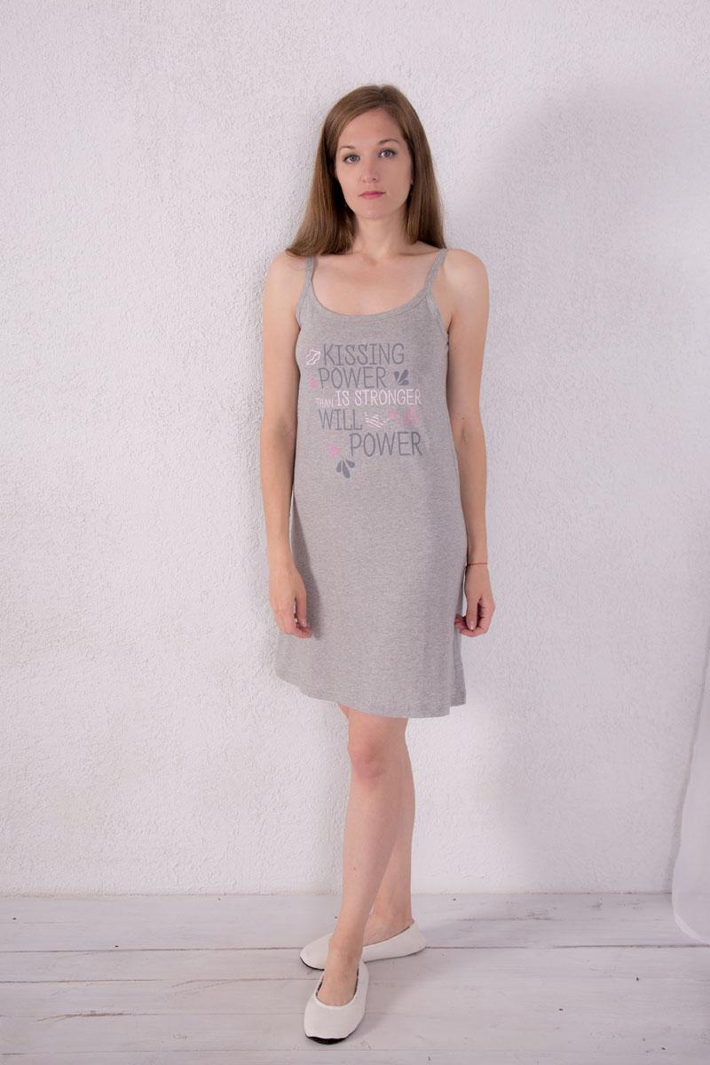 Платье домашнее Violett, цвет: светло-серый. 7117110303. Размер XL (50) платье домашнее violett цвет лиловый 7117110702 размер l 48