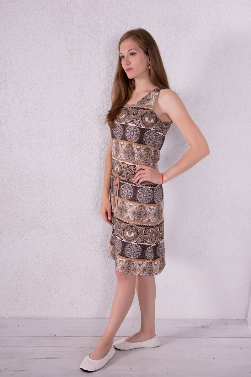 Платье домашнее Violett, цвет: бежевый. 7117110503. Размер M (46) халат женский violett цвет розовый 7117110105 размер m 46