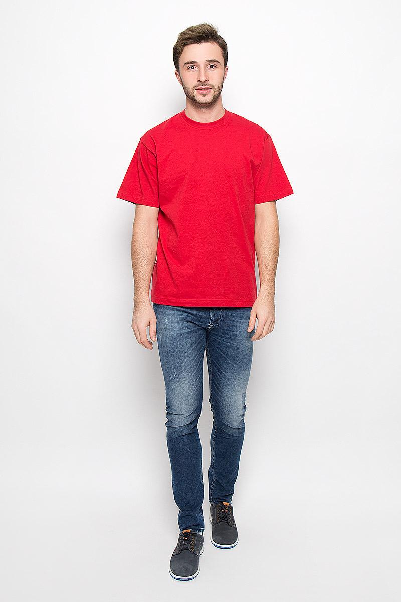 Футболка мужская Frutto Rosso, цвет: красный. FR-001. Размер XL (52)FR-001Мужская однотонная футболка Frutto Rosso выполнена из натурального хлопка. Горловина дополнена трикотажной резинкой.