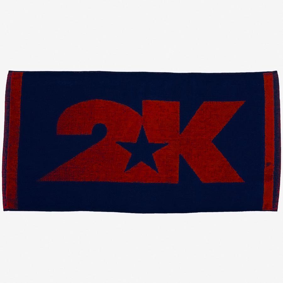 Полотенце 2K Sport Lucca, цвет: темно-синий, красный, 40 х 80 см 2k sport 2k sport fenix pro cotton ls