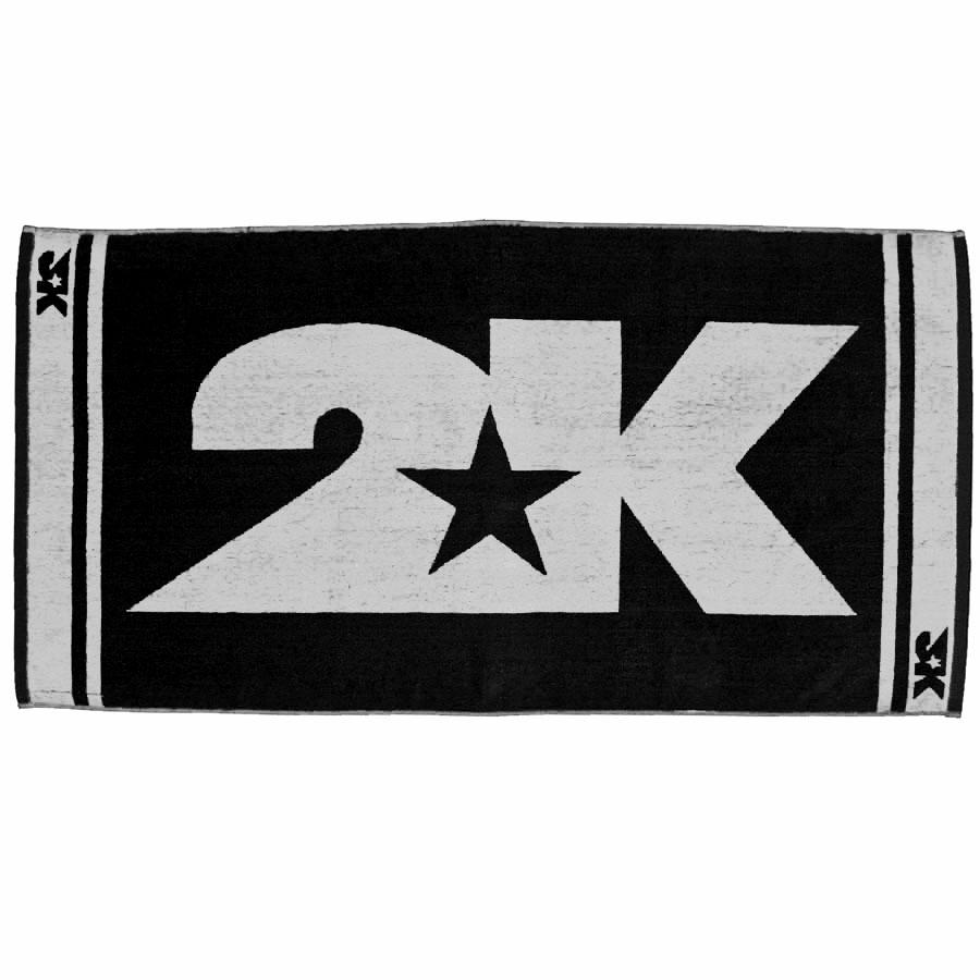 Полотенце 2K Sport Barri, цвет: черный, белый, 60 х 120 см 2k sport 2k sport fenix pro cotton ls