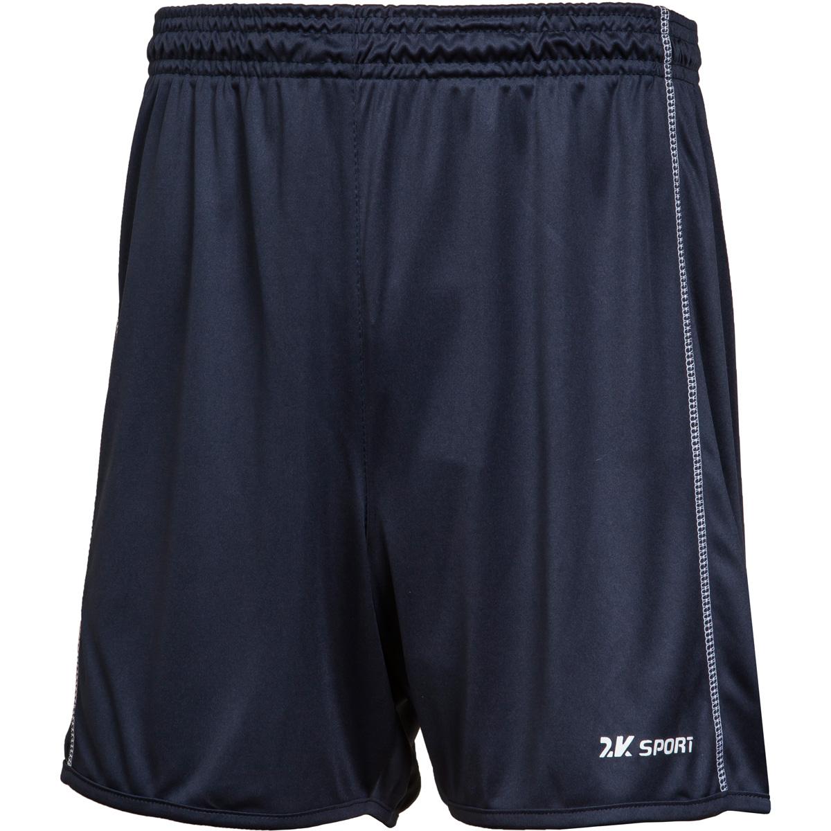 Шорты волейбольные мужские 2K Sport Energy, цвет: темно-синий. 140041. Размер XS (44)140041_navyВолейбольные шорты с контрастными полосами по бокам. Изготовлены из ткани повышенной прочности, дополнены эластичным поясом со шнурками.