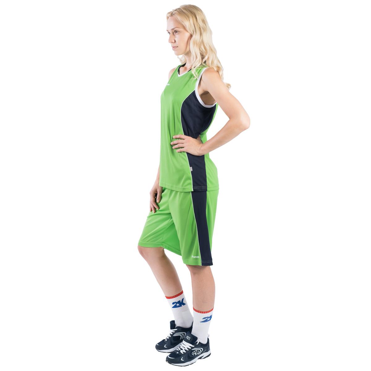 Шорты баскетбольные женские 2K Sport Advance, цвет:  светло-зеленый, темно-синий, белый.  130033.  Размер M (44/46) 2K Sport