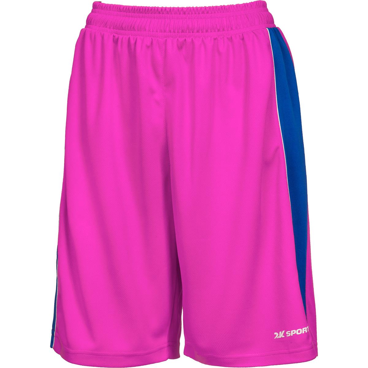 Шорты баскетбольные женские 2K Sport Advance, цвет: пурпурный, синий, белый. 130033. Размер S (42/44) - Баскетбол