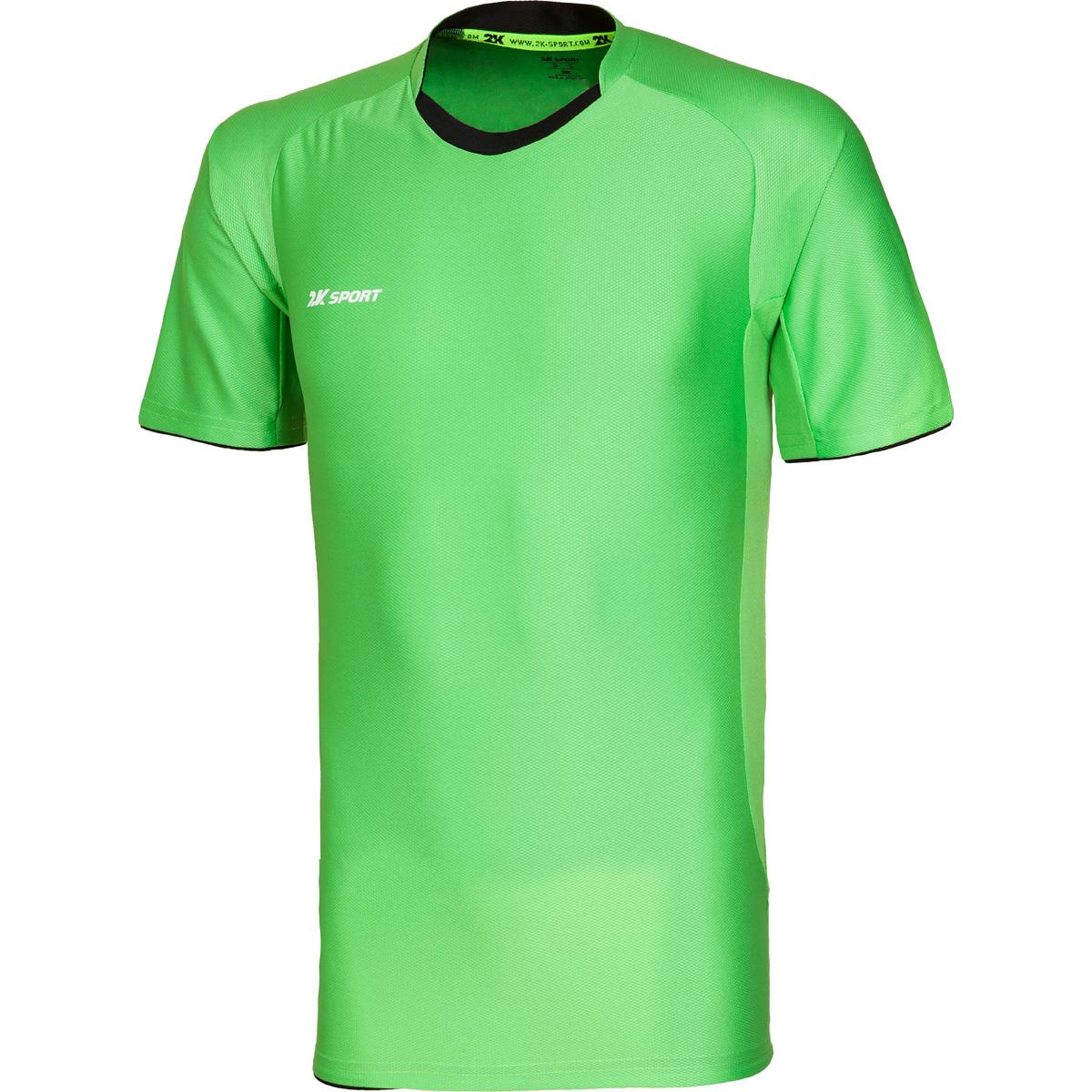 Футболка игровая мужская 2K Sport Champion II, цвет: светло-зеленый, черный. 120018. Размер XS (44) повязка капитанская 2k sport captain цвет светло зеленый черный