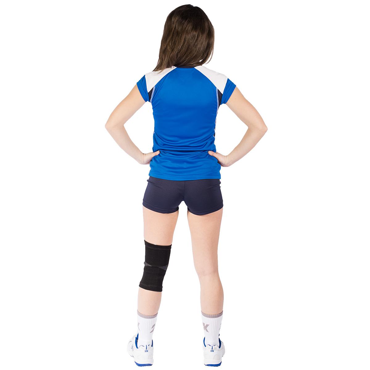 Футболка волейбольная женская 2K Sport Energy, цвет:  синий, темно-синий, белый.  140042.  Размер L (46/48) 2K Sport