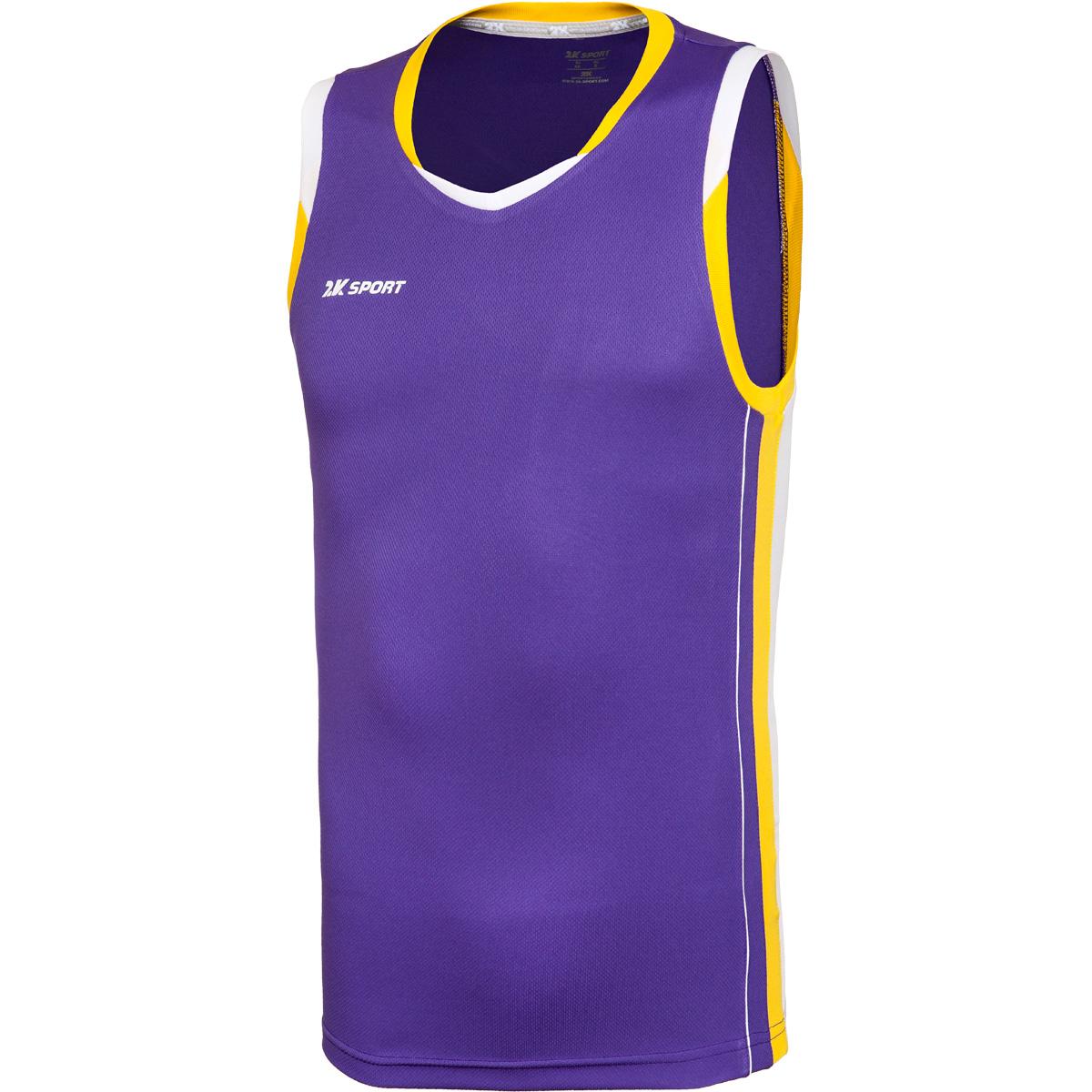 Майка баскетбольная мужская 2K Sport Advance, цвет: фиолетовый, желтый, белый. 130030. Размер M (48)130030_violet/yellow/whiteПрофессиональная баскетбольная игровая майка от 2K Sport создана для того, чтобы вам ничего не мешало демонстрировать великолепную игру на паркете против самых грозных соперников. Особая сетчатая структура ткани позволяет сделать майку практически невесомой, сохраняя при этом прочность и эластичность. Стильный двухцветный кант по вороту и рукаву. Боковые контрастные вставки.