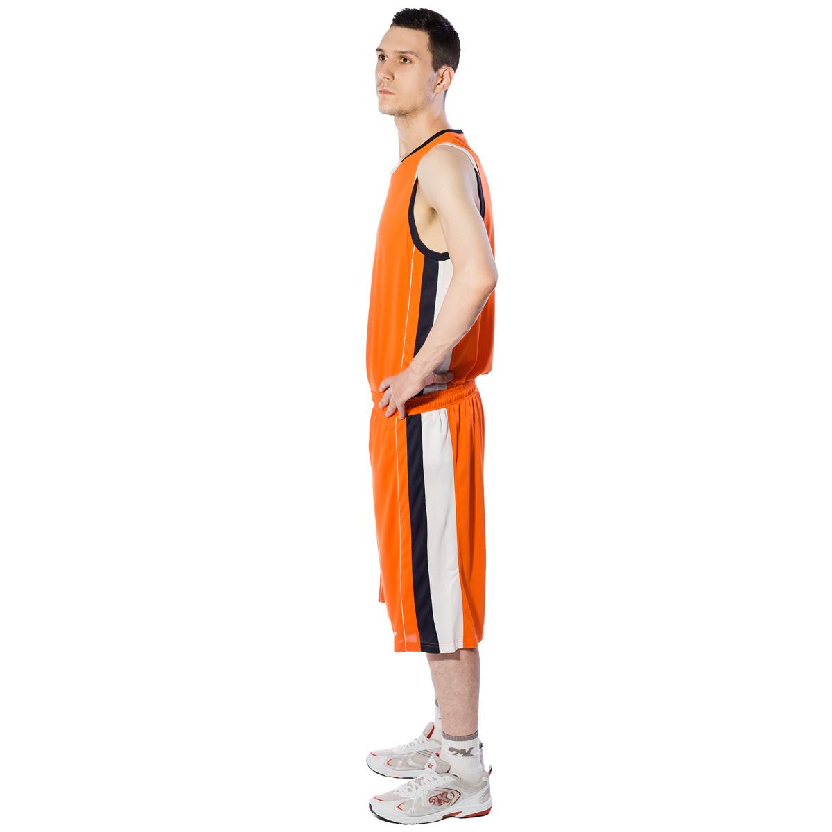Майка баскетбольная мужская 2K Sport Advance, цвет:  оранжевый, темно-синий, белый.  130030.  Размер XS (44) 2K Sport
