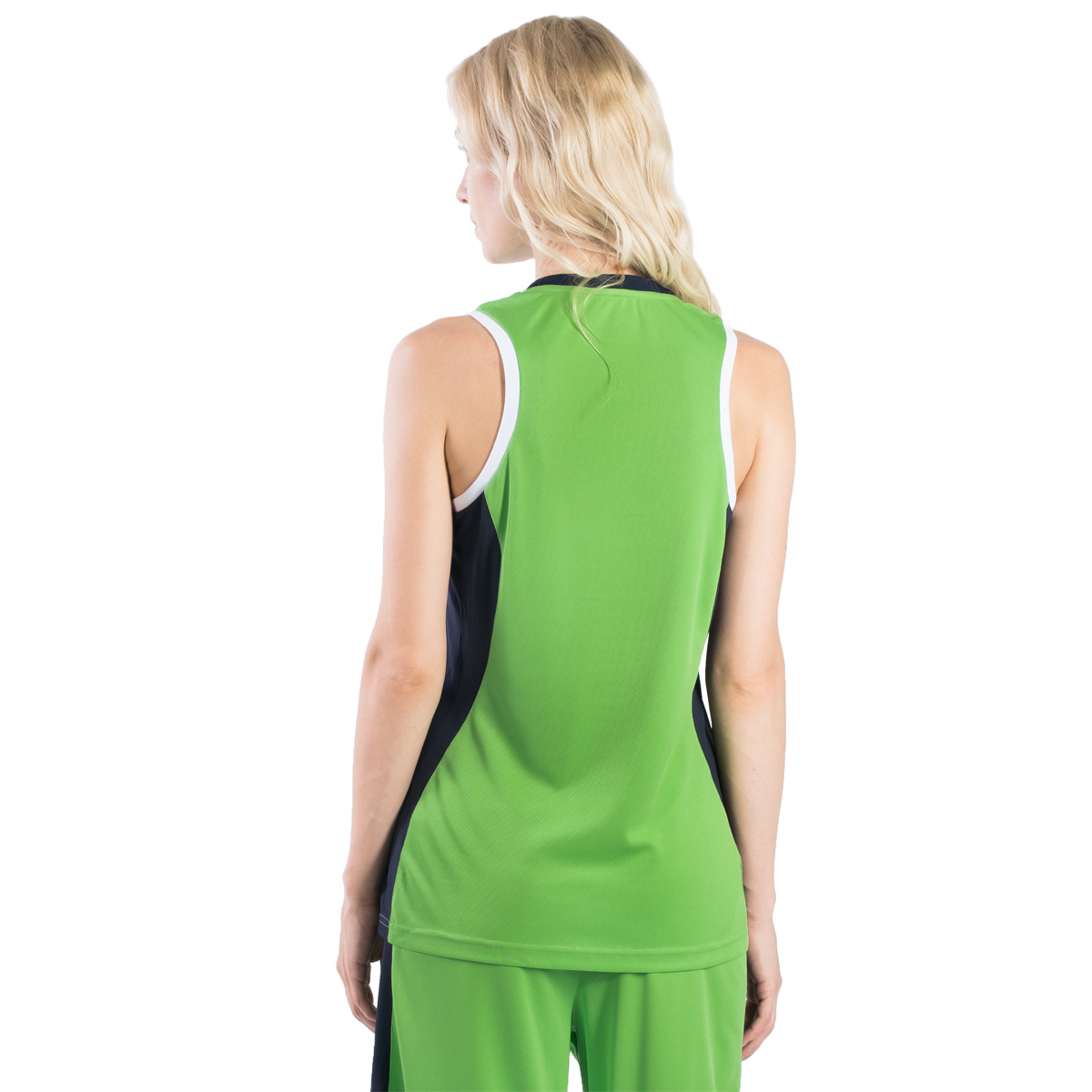 Майка баскетбольная женская 2K Sport Advance, цвет:  светло-зеленый, темно-синий, белый.  130032.  Размер L (46/48) 2K Sport