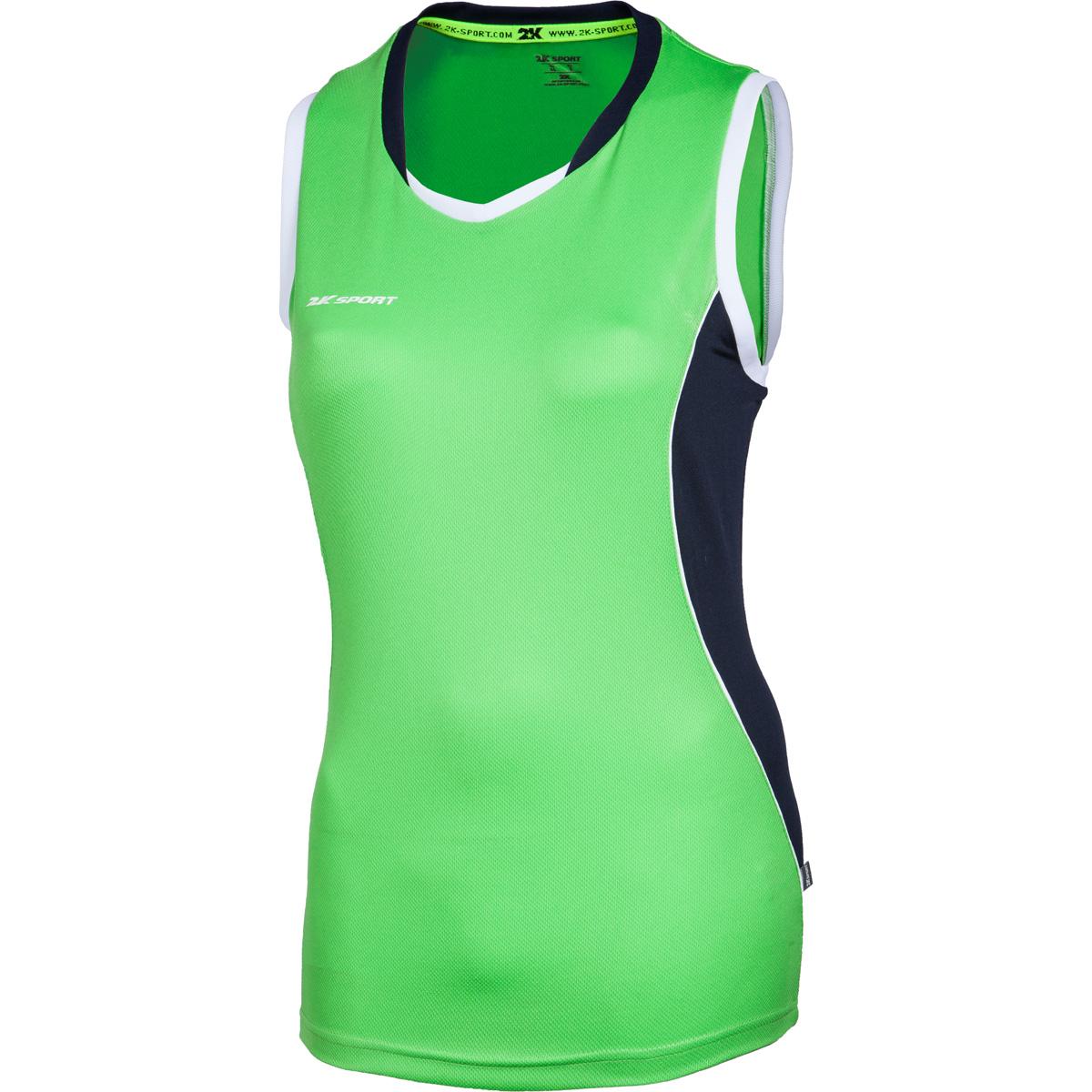 Майка баскетбольная женская 2K Sport Advance, цвет: светло-зеленый, темно-синий, белый. 130032. Размер S (42/44) - Баскетбол