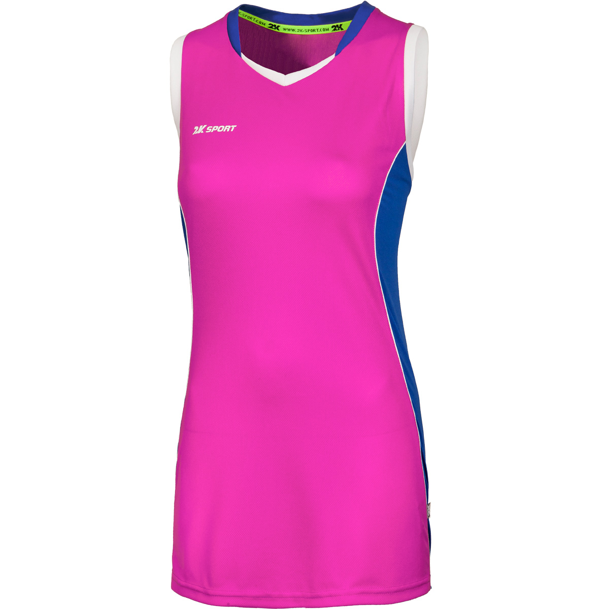 Майка баскетбольная женская 2K Sport Advance, цвет: пурпурный, синий, белый. 130032. Размер M (44/46) - Баскетбол