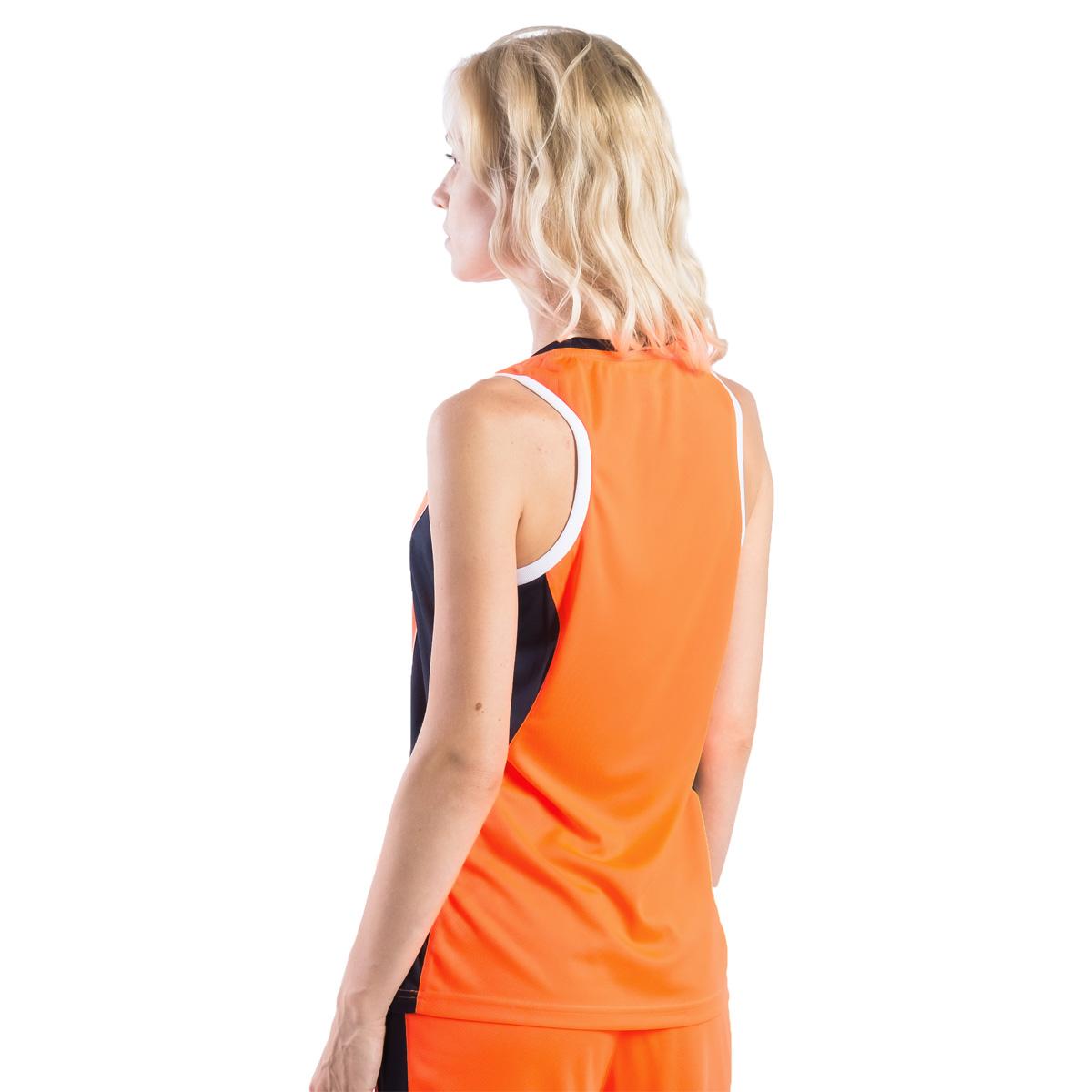 Майка баскетбольная женская 2K Sport Advance, цвет:  оранжевый, темно-синий, белый.  130032.  Размер S (42/44) 2K Sport