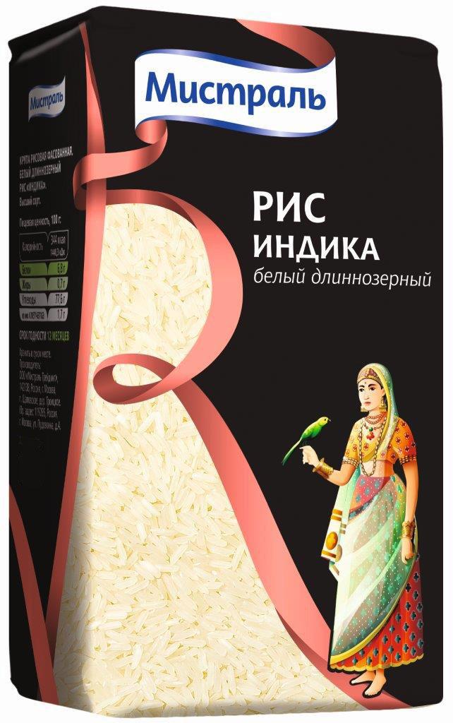 Мистраль Рис Индика, 450 г мистраль рис кубань в пакетиках для варки 8 шт по 62 5 г