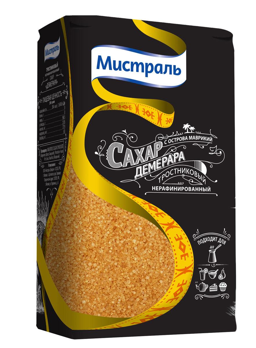 Мистраль Сахар коричневый Демерара, 1 кг