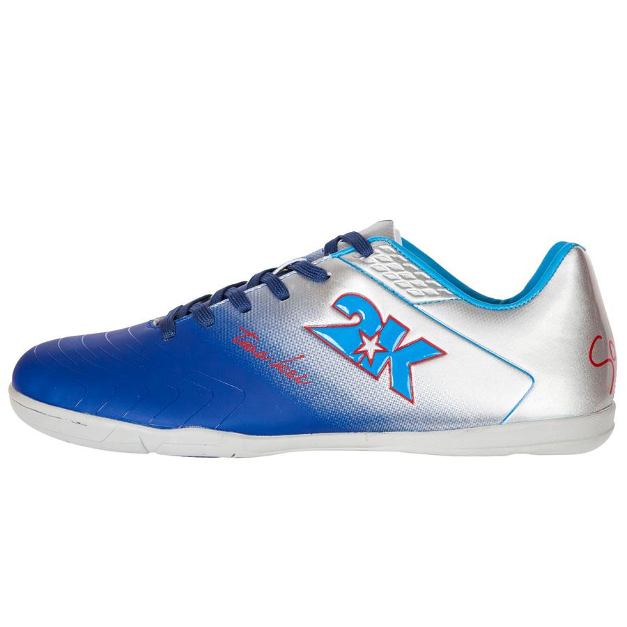 """Бутсы для футзала 2K Sport """"Santos"""", цвет: темно-синий, серебристый. Размер 42"""