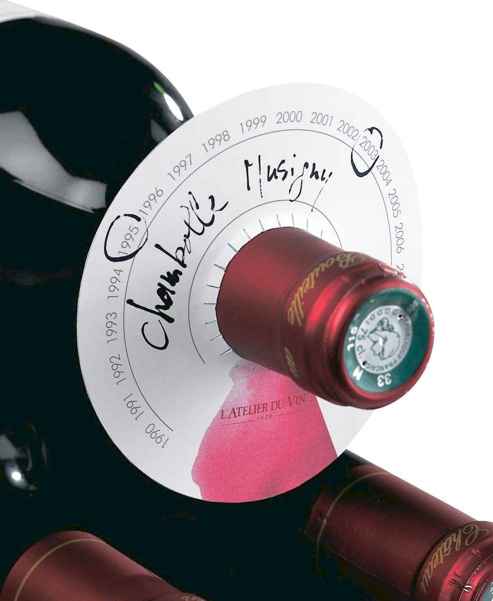 Диски для организованного хранения бутылок в погребе LATELIER DU VIN, 80 шт95043Диски LATELIER DU VIN с информацией (аппелласьон, год урожая, необходимый период выдержки) помогут организованно хранить крепкие напитки и вино в погребе.В упаковке 80 дисков.