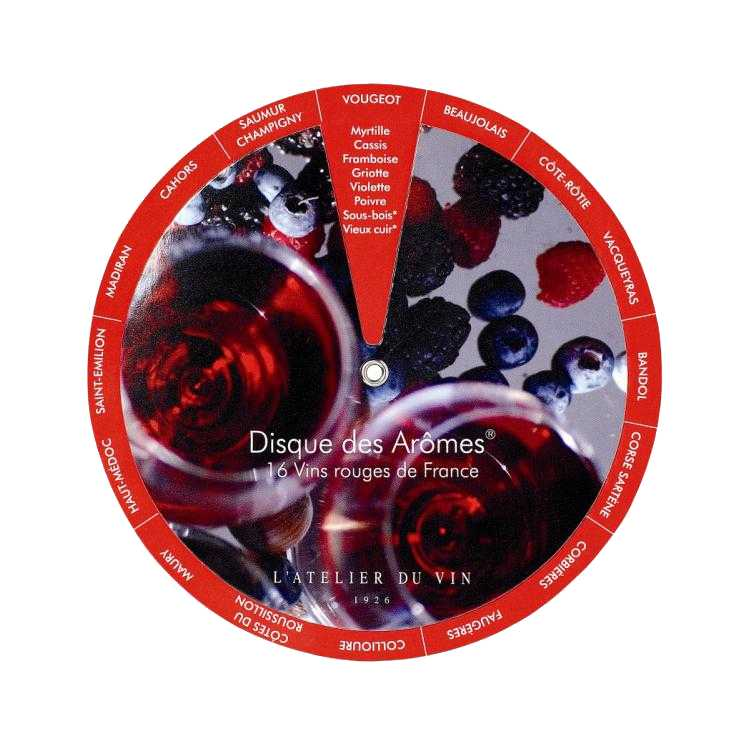 Диск винных ароматов L'ATELIER DU VIN, на английском яз��ке пробка для шампанского с индикатором давления пузырьков l atelier du vin l