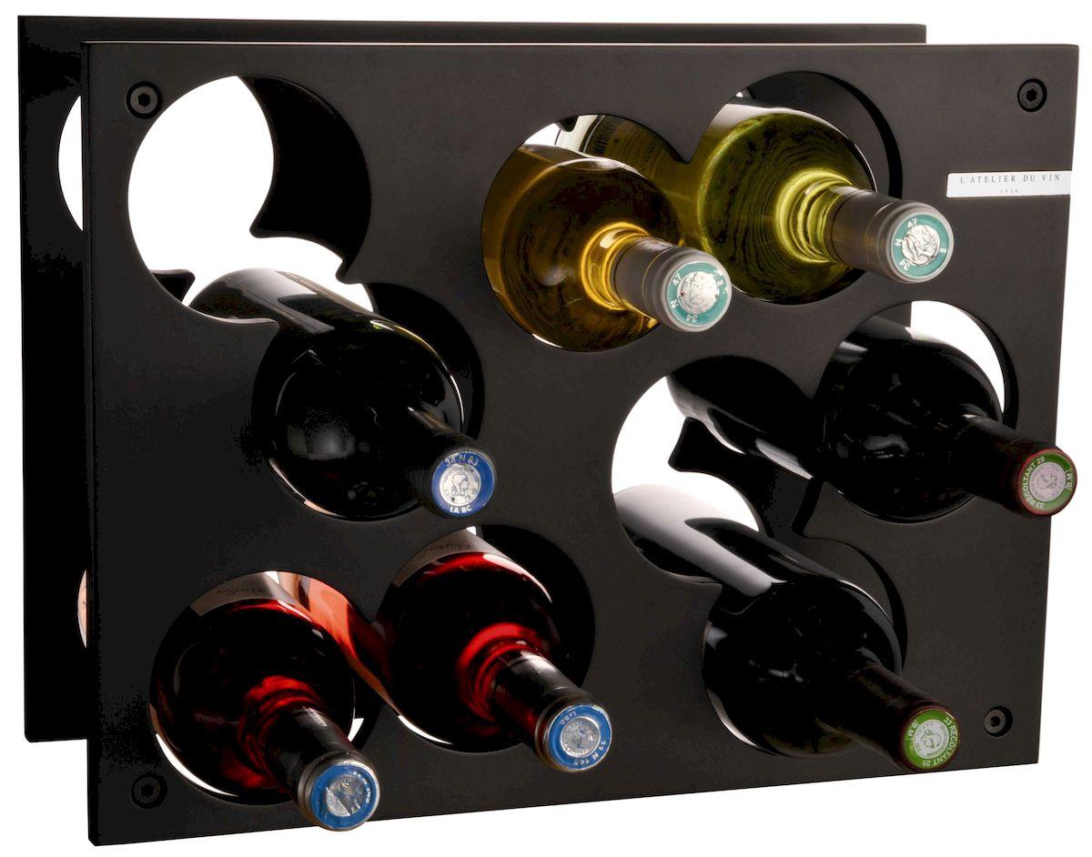 Стеллаж для бутылок L'ATELIER DU VIN Сити Рек Нуар пробка для шампанского с индикатором давления пузырьков l atelier du vin l