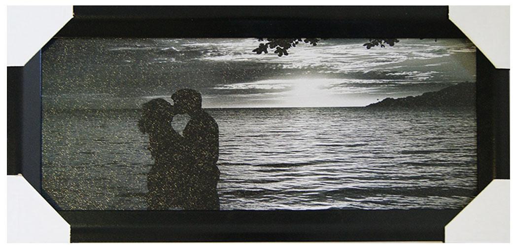 Картина в раме Proffi Home Поцелуй, 20 х 50 см