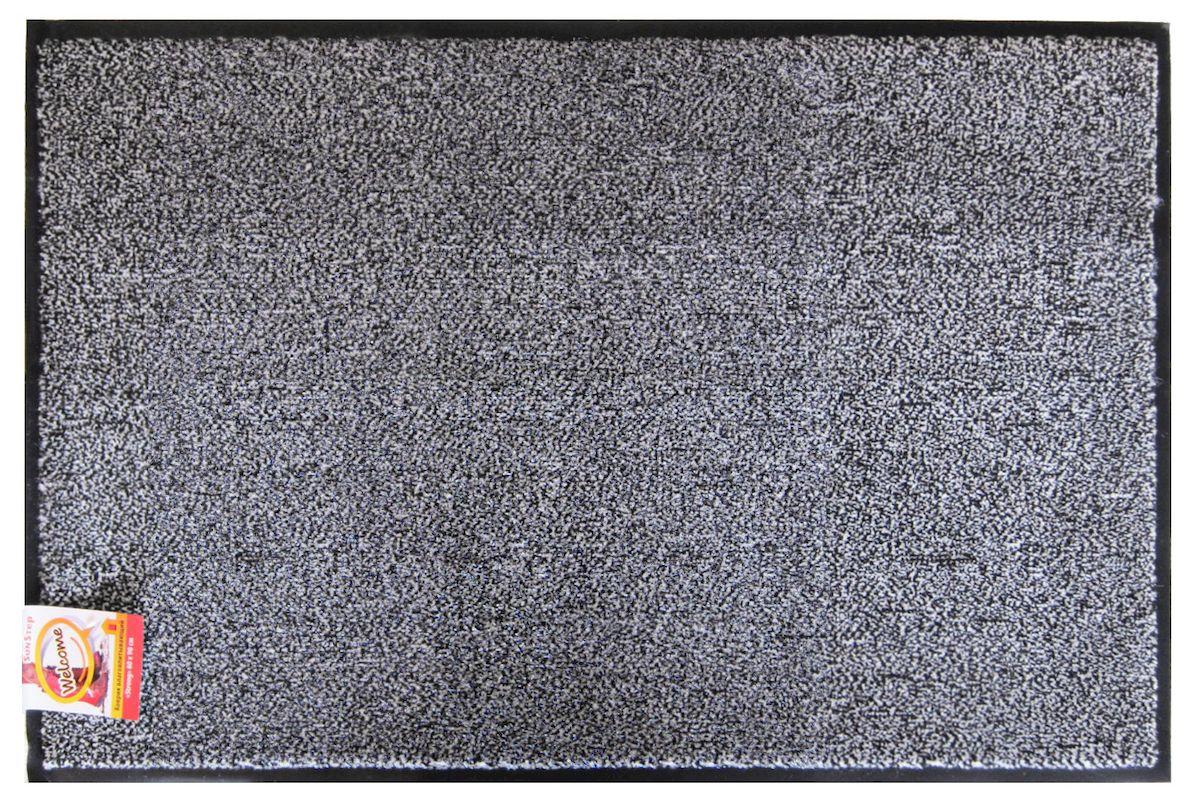 Коврик SunStep Professional, влаговпитывающий, цвет: серый, 90 х 150 см коврик домашний sunstep цвет кремовый 60 х 110 х 4 см
