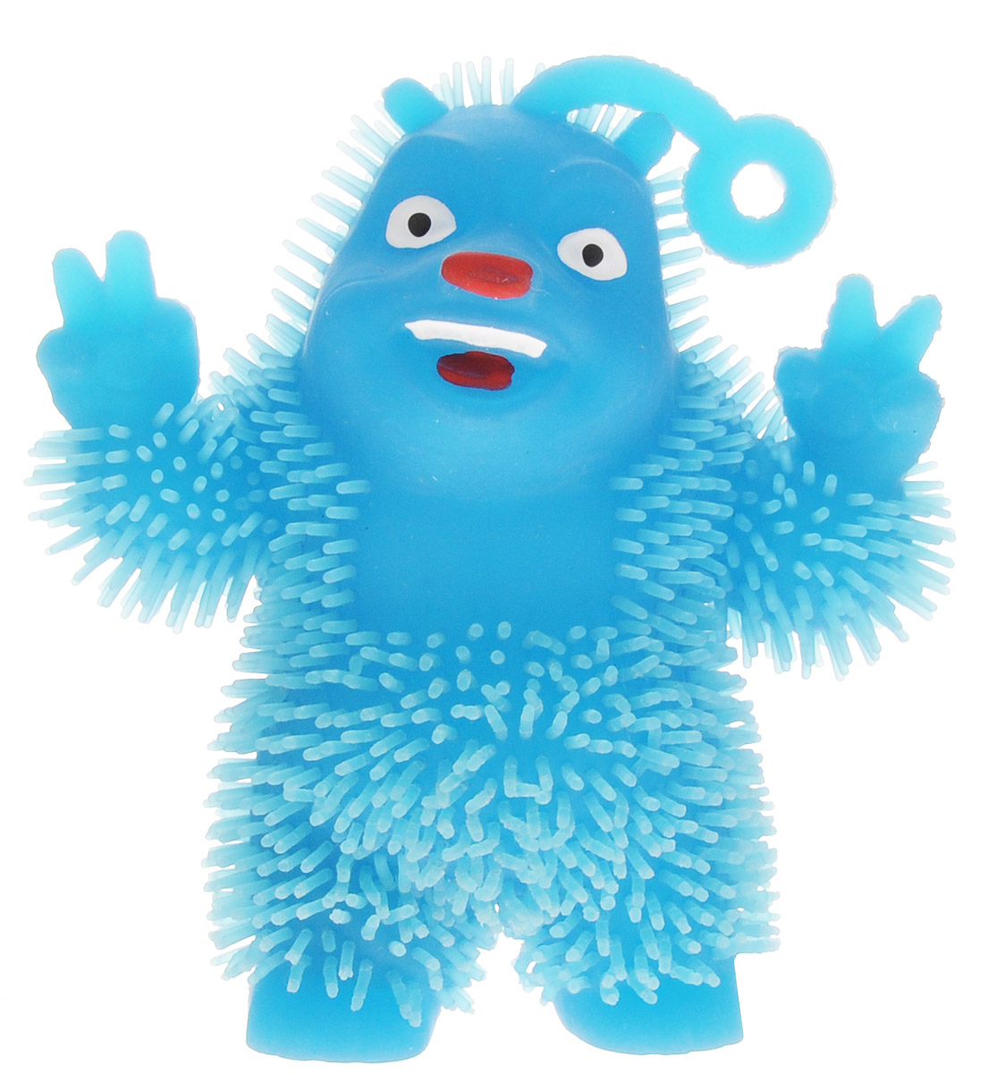 1TOY Игрушка-антистресс Ё-Ёжик Медвежонок-хиппи цвет синий 1toy игрушка антистресс ё ёжик животное цвет бежевый