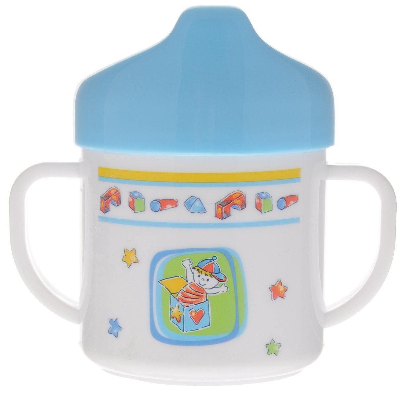 Canpol Babies Чашка-поильник цвет голубой 200 мл canpol babies набор ершиков для бутылочки и соски цвет голубой 2 шт