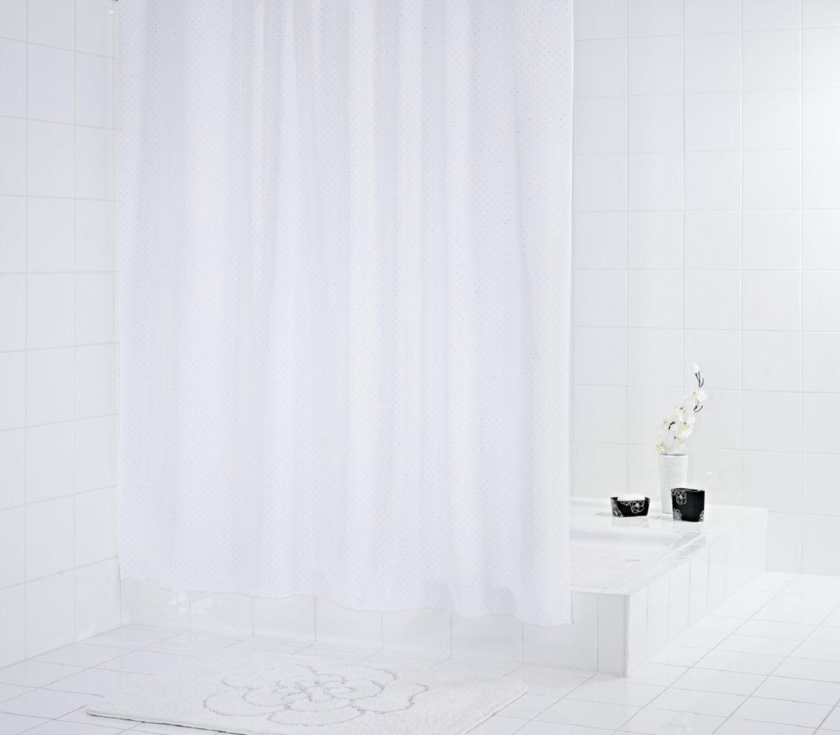 Штора для ванной комнаты Ridder Diamond, цвет: белый , 180 х 200 см