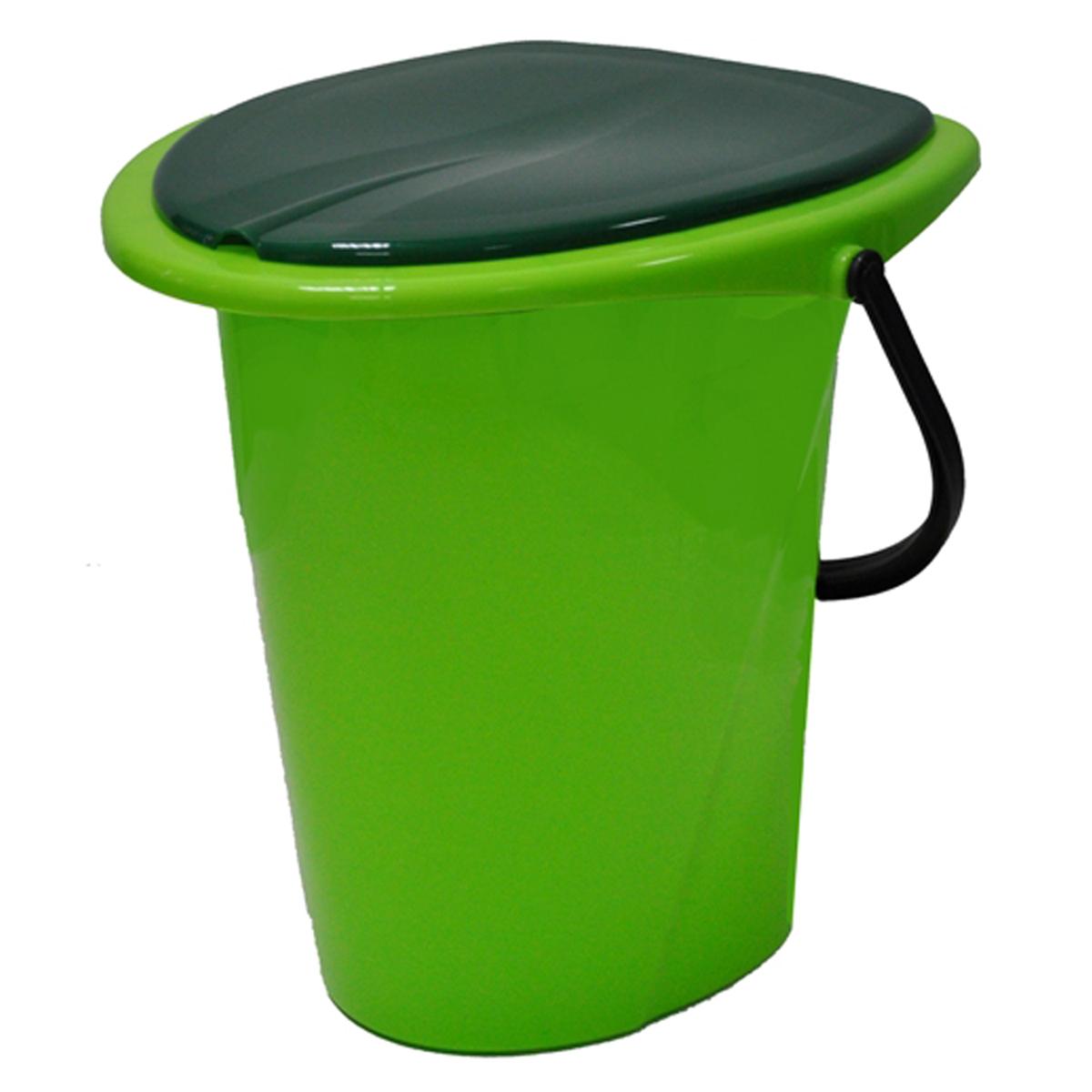 "Ведро-туалет ""InGreen"", цвет: зеленый, салатовый, 17 л"