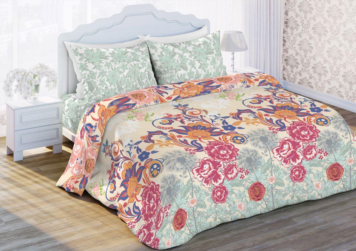 Комплект белья Любимый дом Феерия, 1,5-спальный, наволочки 70x70323388Комплект постельного белья коллекции Любимый дом выполнен из высококачественной ткани - из 100% хлопка. Такое белье абсолютно натуральное, гипоаллергенное, соответствует строжайшим экологическим нормам безопасности, комфортное, дышащее, не нарушает естественные процессы терморегуляции, прочное, не линяет, не деформируется и не теряет своих красок даже после многочисленных стирок, а также отличается хорошей износостойкостью.