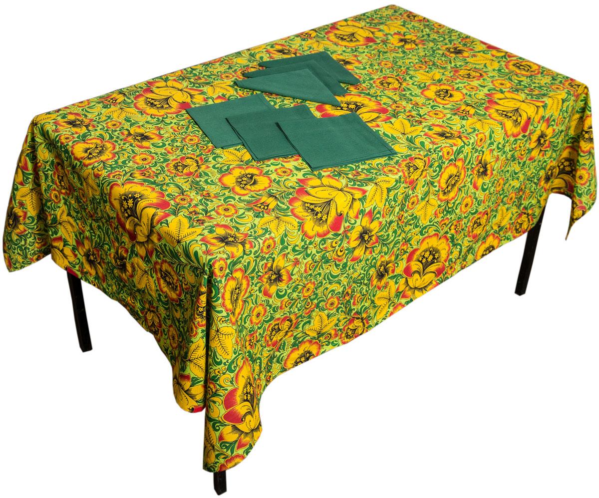 Комплект столовый Zlata Korunka Хохлома, 7 предметов. 55667 скатерти и салфетки zlata korunka скатерть микс 120х150 см