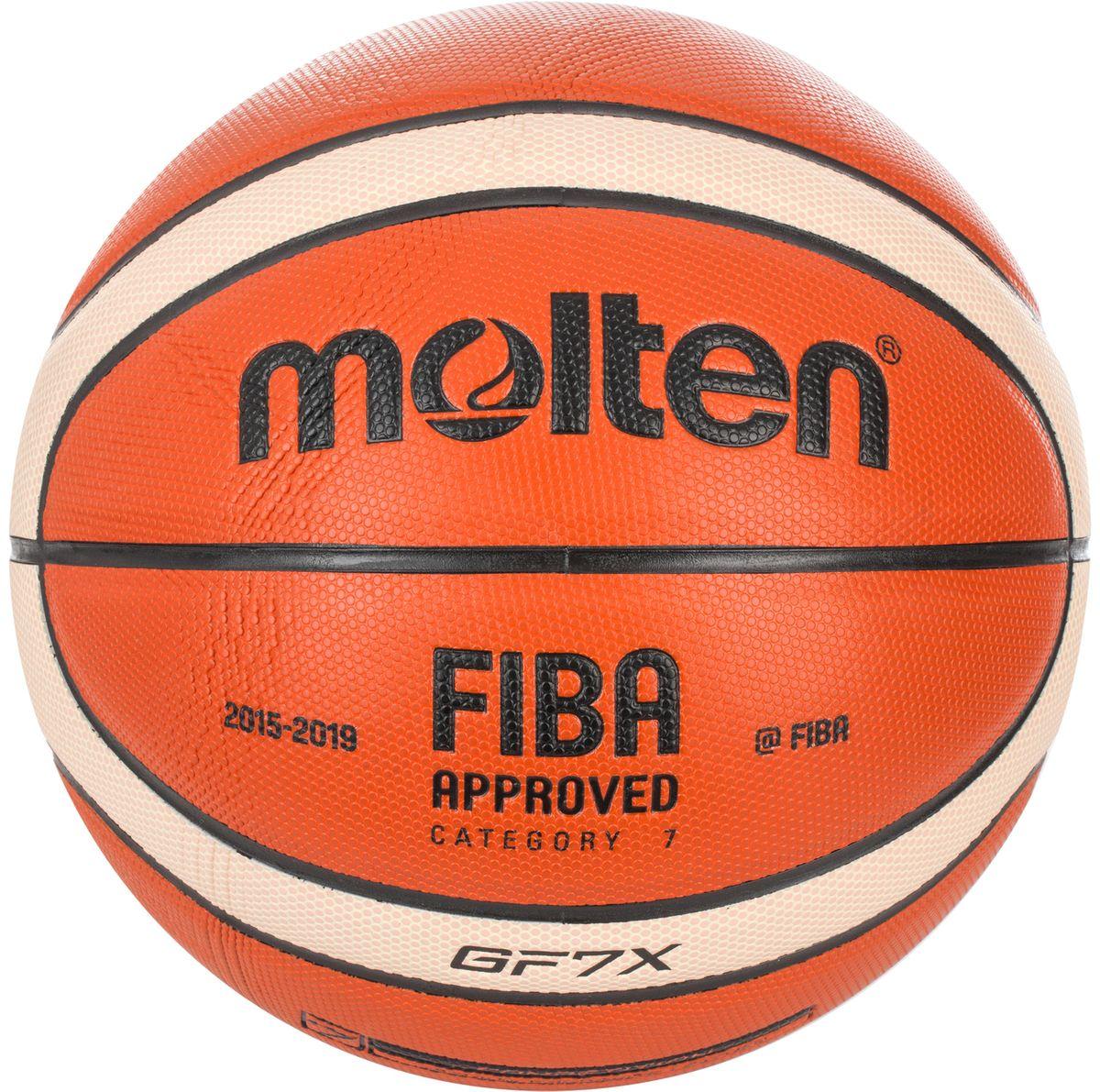 Мяч баскетбольный Molten. Размер 7. BGF7XBGF7XБаскетбольный мяч Molten предназначен для соревнований и тренировок к соревнованиям профессионального уровня. Он изготовлен из высококлассной композитной кожи. У мяча шероховатая поверхность. Он имеет 12-панельный дизайн.Одобрен FIBA.