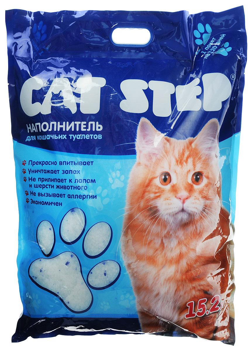 Наполнитель для кошачьих туалетов Cat Step, силикагель, 15,2 лНК-018Впитывающий наполнитель Cat Step изготовлениз силикагеля, который мгновенно впитываетжидкость и способствует уничтожению запахов.Как только влага коснется поверхности гранулсиликагеля, множество микроскопических порбуквально поглощают ее. А сами гранулысиликагеля остаются при этом сухими наповерхности и не прилипают к шерсти и лапкамкошки.Впитывающая способность наполнителя Cat Stepнастолько высока, что одного пакета хватает нацелый месяц!