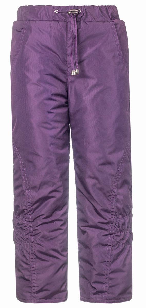 Брюки утепленные детские M&D, цвет: фиолетовый. БР145П-12. Размер 104, 4 годаБР145П-12Утепленные детские брюки выполнены из полиэстера. В качестве утеплителя используется синтепон. Модель на талии имеет широкую эластичную резинку и утягивающий шнурок. Спереди брюки оснащены двумя втачными карманами. Снизу брючины дополнены внутренними эластичными манжетами, для исключения попадания снега в обувь.