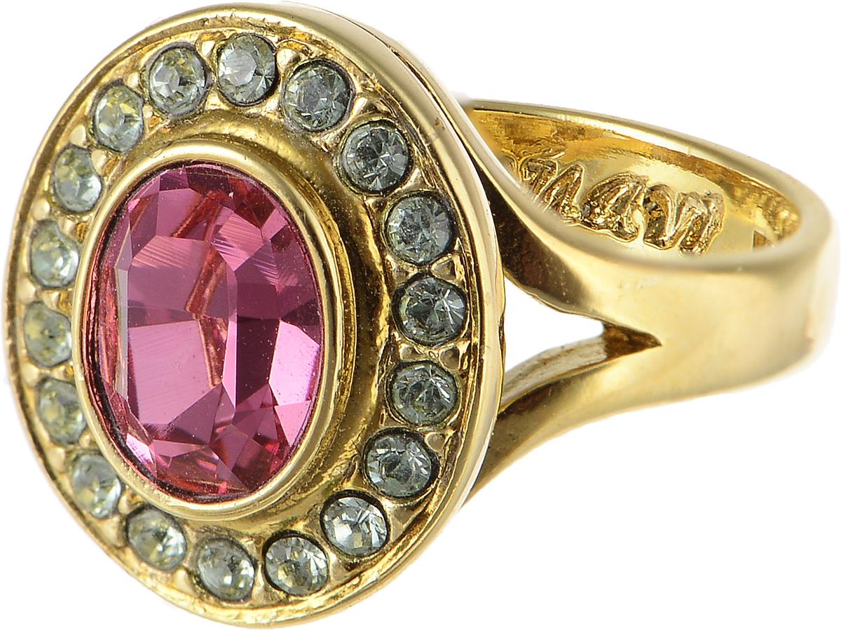 Кольцо Jenavi Murano. Навогеро, цвет: золотой, розовый. r468p010. Размер 17Коктейльное кольцоЭлегантное кольцо Jenavi Murano. Навогеро изготовлено из гипоаллергенногоювелирного сплава. Декоративная часть оформлена кристаллами Swarovski.Такое стильное кольцо идеально дополнит ваш образ и подчеркнет вашуиндивидуальность.