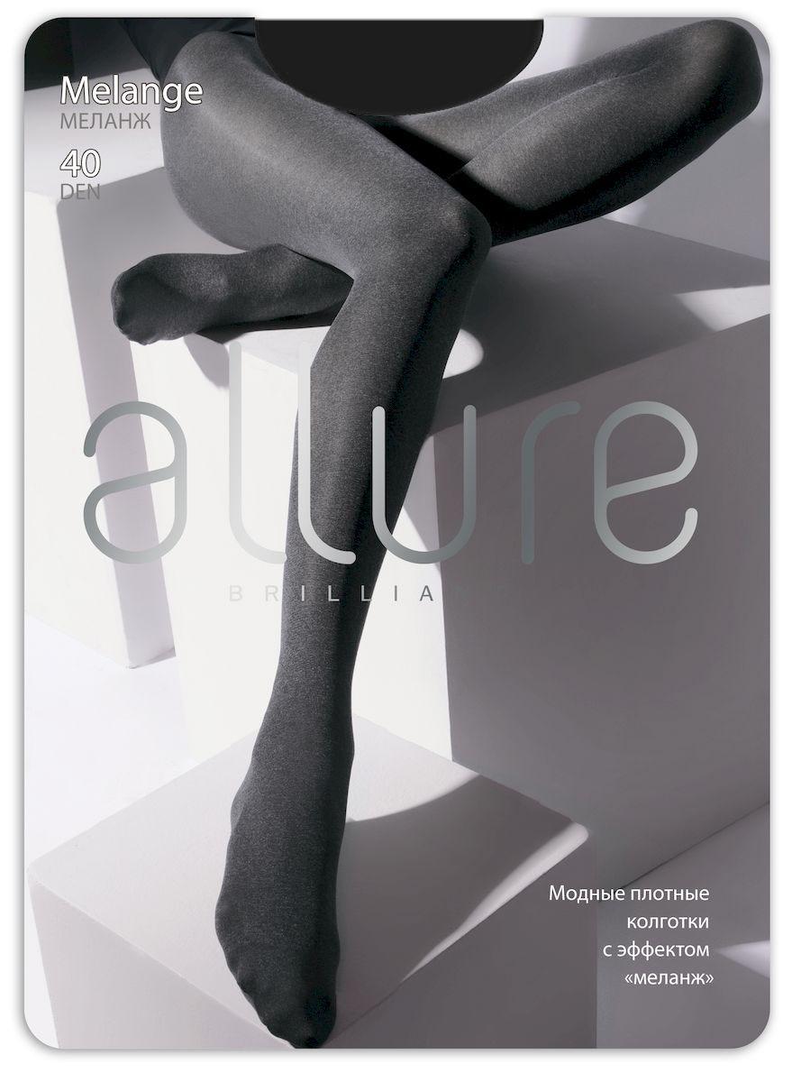 Колготки Allure Melange 40, цвет: Nero (черный). Размер 2Melange 40Модные плотные непрозрачные колготки из меланжевых нитей. Идеальны в прохладный день. Плоские швы, укрепленный носок и хлопковая ластовица.