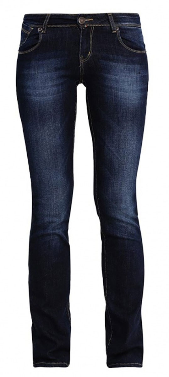 Джинсы женские F5 Gypsy, цвет: темно-синий. 19599. Размер 30-32 (46-32)160250_19599_Blue denim Gypsy str., w.darkЖенские джинсы F5 Gypsy выполнены из высококачественного эластичного хлопка. Джинсы прямого кроя и стандартной посадки застегиваются на пуговицу в поясе и ширинку на застежке-молнии, дополнены шлевками для ремня. Джинсы имеют классический пятикарманный крой: спереди модель дополнена двумя втачными карманами и одним маленьким накладным кармашком, а сзади - двумя накладными карманами. Джинсы украшены декоративными потертостями и перманентными складками.