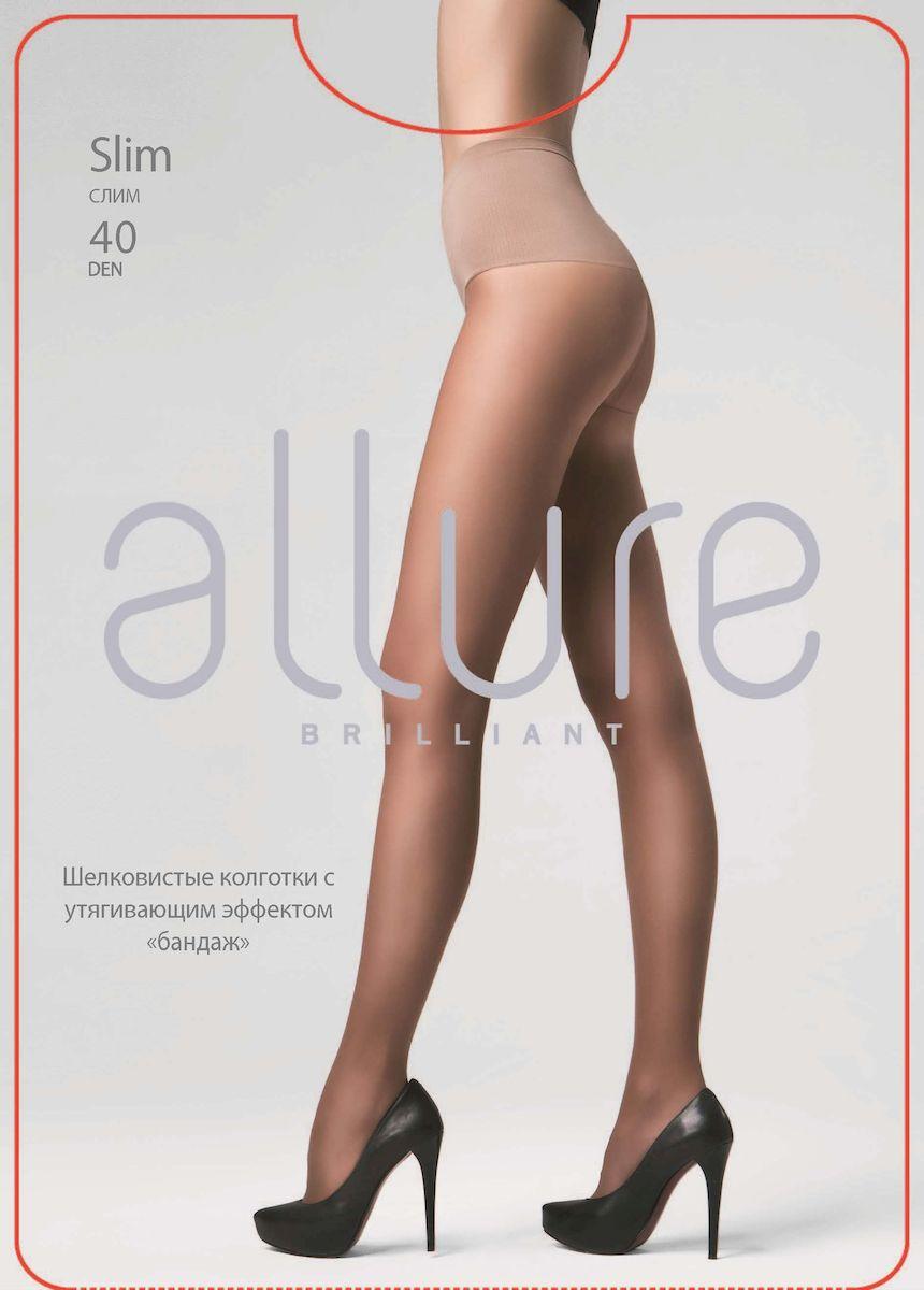 Колготки Allure Slim 40, цвет: Glase (загар). Размер 4