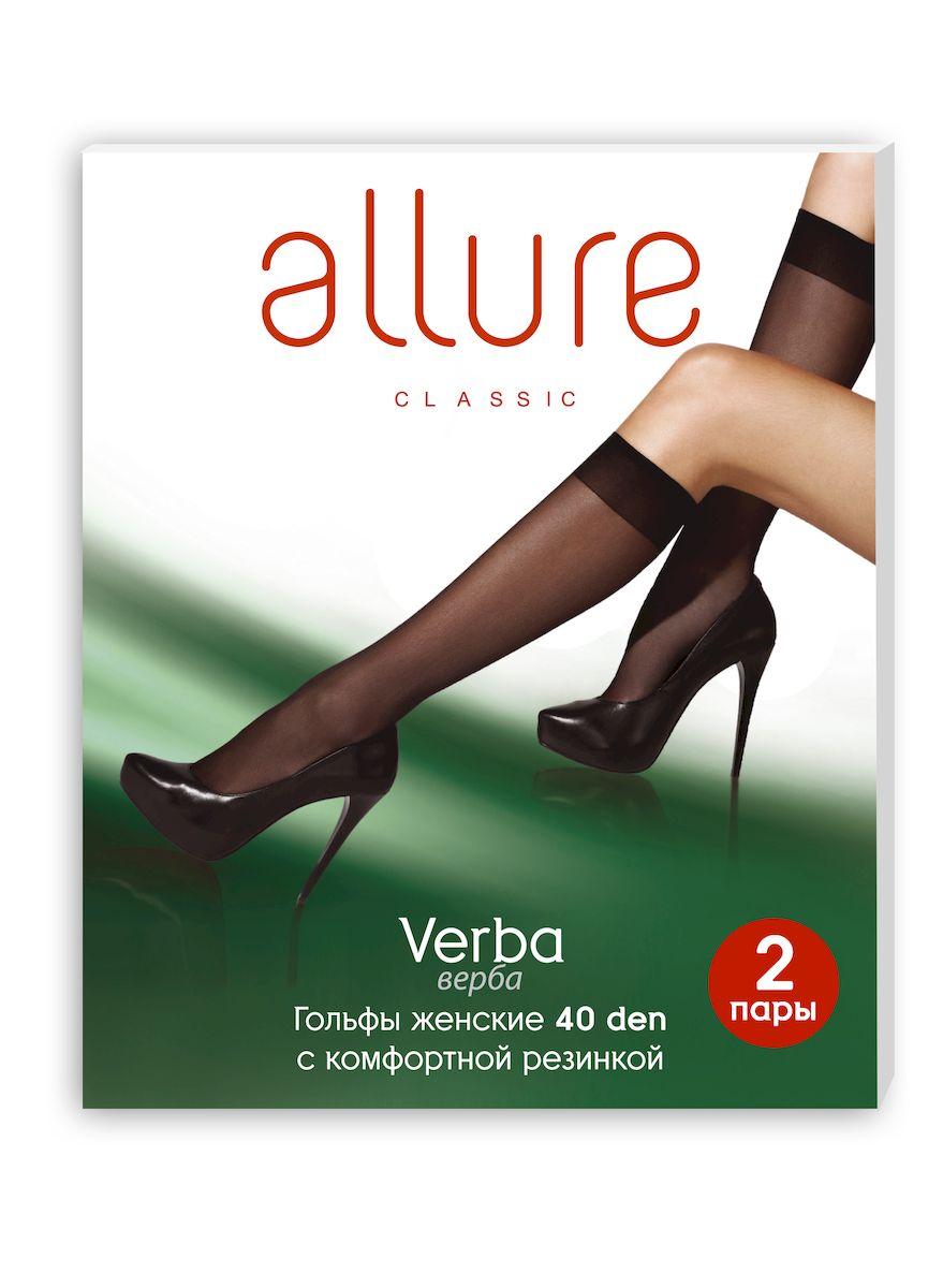 Гольфы Allure Verba 40, цвет: Nero (черный), 2 пары. Размер универсальныйVerba 40Плотные классические гольфы с широкой комфортной резинкой и укрепленным носком.