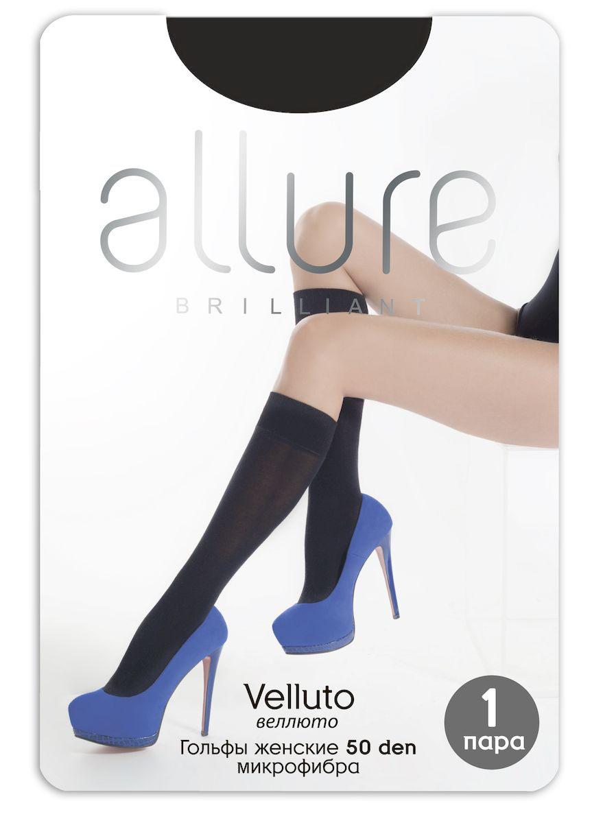 Гольфы Allure Velluto 50, цвет: Nero (черный). Размер универсальныйVelluto 50Плотные, непрозрачные матовые гольфы из микрофибры с укрепленным мыском и резинкой топ-комфорт.