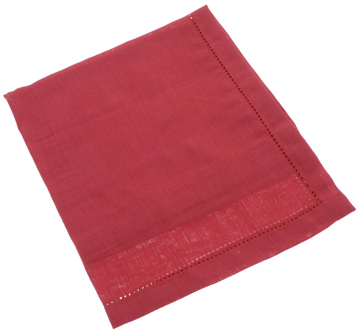 Салфетка для сервировки стола Гаврилов-Ямский Лен, цвет: красный, 42 х 42 см5со6120Салфетка Гаврилов-Ямский Лен, выполненная из натурального льна, является незаменимым элементом праздничной сервировки. Лён - поистине, уникальный экологически чистый материал. Изделия из льна обладают уникальными потребительскими свойствами.Салфетки из натурального льна придадут вашему дому уют и тепло.