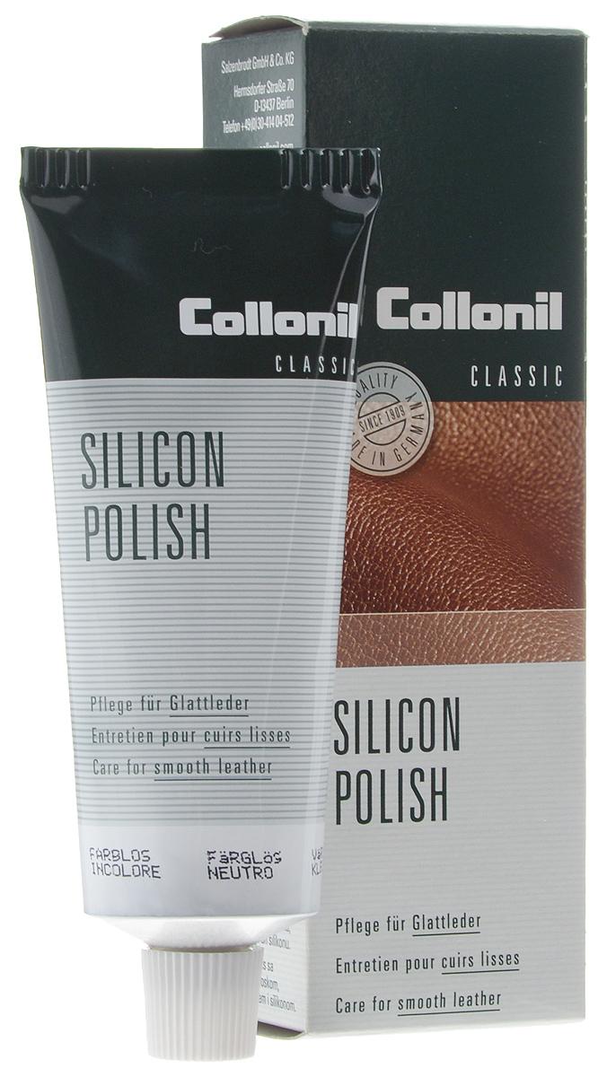 Крем для обуви, одежды и мебели Collonil Silicon Polish, бесцветный (50), 75 мл3143 050Крем для обуви, одежды и мебели Collonil Silicon Polish - это превосходный пропитывающий крем, который чистит и защищает гладкую кожу и обеспечивает уход за ней. Содержит пчелиный воск, масло тропических растений и силикон. Применяется для кожаной одежды, сумок, мебели и других изделий из гладкой кожи. Быстро впитывается, не пачкает и не оставляет следов.