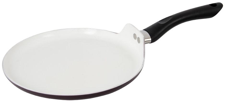 Сковорода блинная Polaris SM-26PC, с антипригарным покрытием. Диаметр 20 см + ПОДАРОК: кулинарная кисть005242Сковорода-блинница Polaris SM-26PC, в основу которой лег качественный и износостойкий алюминий, отлично противостоит деформации и спокойно прослужит вам много лет даже при постоянном использовании на кухне. Модель стала обладательницей внутреннего керамического покрытия, особенность которого заключается в минимальном использовании масла при жарке различных продуктов. Кроме того, в данной сковороде предусмотрена удобная бакелитовая ручка, которая не нагревается в процессе эксплуатации. Несомненным преимуществом является возможность очистки в посудомоечной машине, что придется по душе даже самым требовательным хозяйкам.