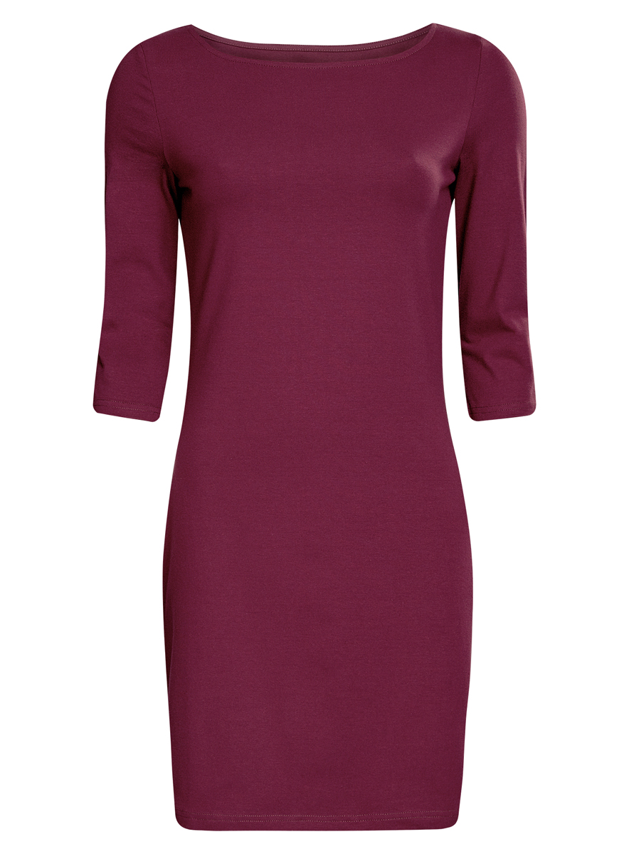 Платье oodji Ultra, цвет: фиолетовый. 14001071-2B/46148/8301N. Размер L (48) платье oodji ultra цвет темный хаки оранжевый 14001071 2b 46148 6855s размер xl 50