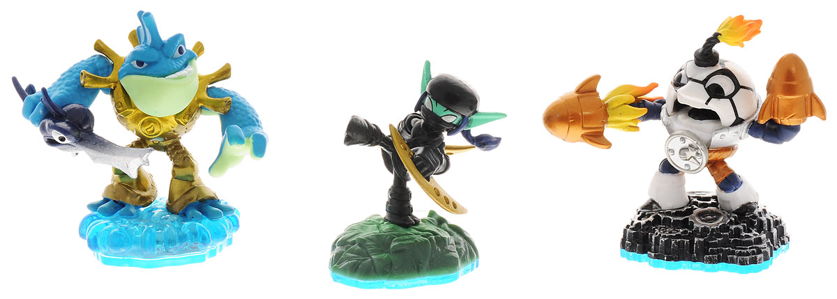 Skylanders Imaginators. Набор из 3 фигурок Countdown, Ninja Stealth Elf, Rip Tide