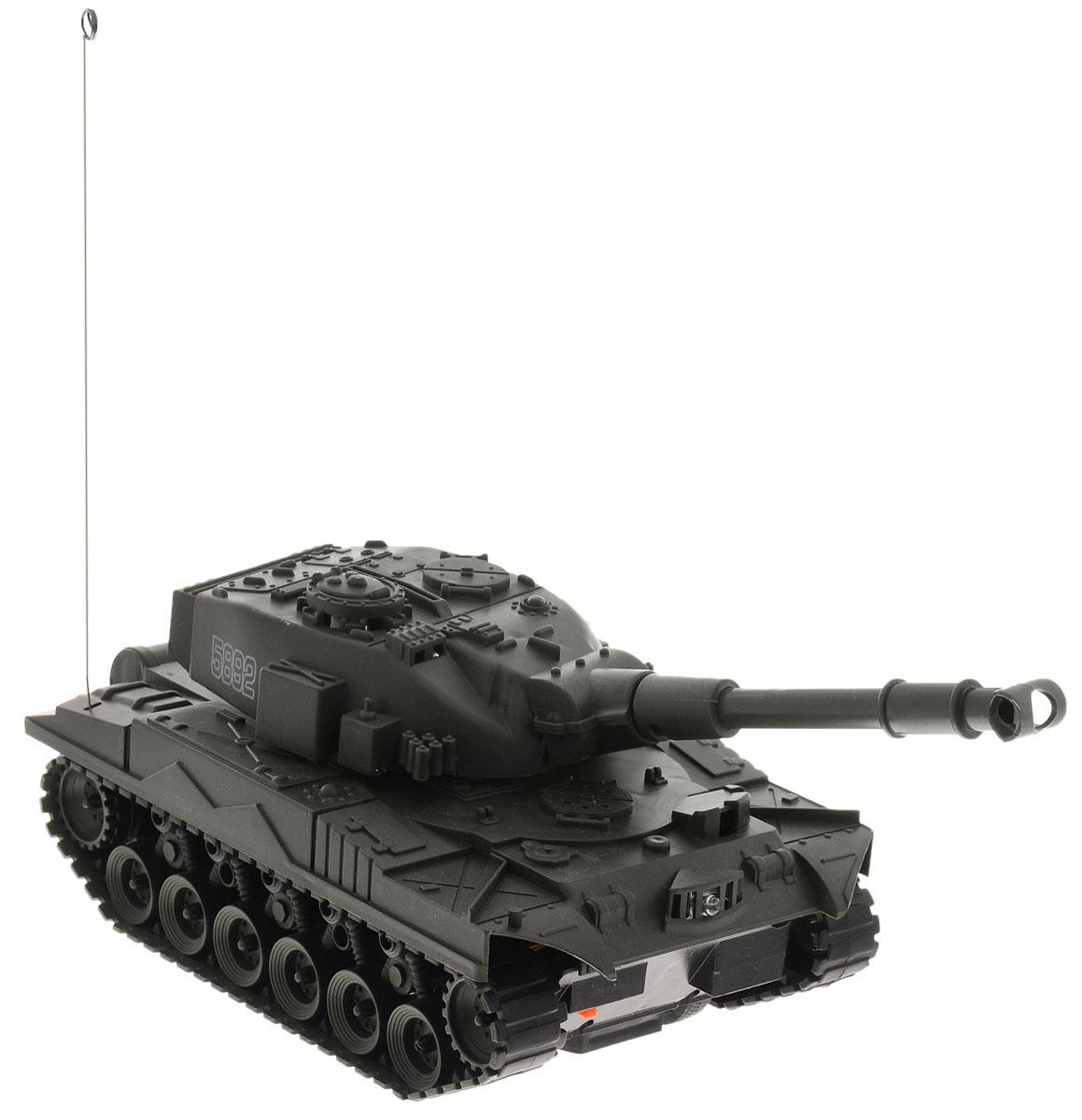 Junfa Toys Танк на радиоуправлении Super Power Panzer цвет темно-зеленый