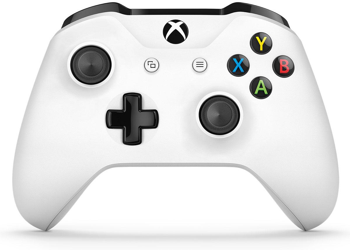 Xbox One Crete беспроводной геймпад белый (White)TF5-00004Беспроводной геймпад Xbox One дает бесподобные ощущения, точность и комфорт. Импульсные триггерыобеспечивают вибрационную обратную связь, так что вы почувствуете малейшую тряску и столкновения свысочайшей точностью. Отзывчивые мини-джойстики и усовершенствованная крестовина повышают точность.Подключите любую совместимую гарнитуру к стандартному 3,5-мм стереогнезду. Геймпад совместим с XboxOne, а также ПК и планшетами с Windows 10.Безупречный геймпад стал еще лучше!Новый беспроводной геймпад Xbox обеспечивает беспрецедентный уровень комфорта и удобства. Онотличается изящной, оптимизированной конструкцией и текстурной поверхностью. Назначайте кнопки по- своему и играйте где угодно, ведь дальность действия увеличилась почти в 2 раза! Подключите к 3,5-ммстереогнезду любую совместимую гарнитуру. А благодаря интерфейсу Bluetooth с этим геймпадом можноиграть в любимые игры на ПК и планшетах с Windows 10.Отличительные черты Новый уровень комфорта и удобства Почувствуй игру благодаря импульсным куркам! Импульсные курки обеспечивают вибрационнуюобратную связь, так что ты почувствуешь малейшую тряску и столкновения с высочайшей точностью. Текстурная поверхностьНевероятная точность Отзывчивые мини-джойстики и усовершенствованная крестовина повышают точность. Курки и бамперы ускоряют доступ к командам. Кнопки Меню и Просмотр ускоряют и облегчают навигацию. Геймпад оснащен 3,5-мм стереогнездом, к которому можно напрямую подключить любимую игровуюгарнитуру.Другие особенности Увеличение дальности действия беспроводного интерфейса достигает 2-х раз по сравнениюпредыдущими геймпадами. К консоли можно одновременно подключить до 8 беспроводных геймпадов. Простая привязка профилей к геймпаду. Геймпад совместим с зарядным устройством для геймпада Xbox One, гарнитурой для чата Xbox One истереогарнитурой Xbox One. Переназначайте кнопки с помощью приложения Xbox Accessories