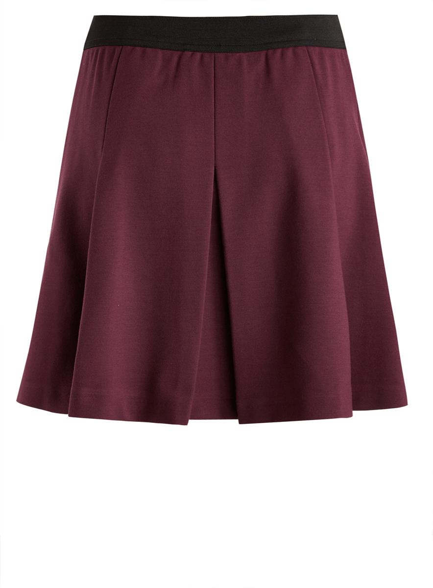 Юбка oodji Collection, цвет: темно-фиолетовый. 14100071/45670/8800N. Размер M (46) ivi collection мини юбка