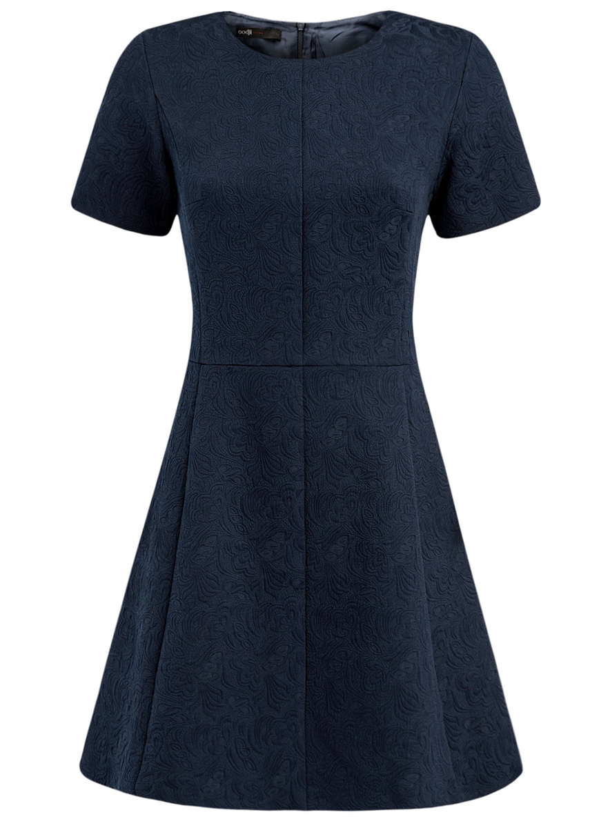Платье oodji Ultra, цвет: темно-синий. 11902161/45826/7900N. Размер 38 (44-170) пуловеры oodji пуловер