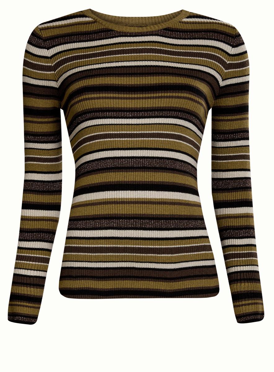Джемпер женский oodji Ultra, цвет: темный хаки, черный, коричневый.. 63812577/45946/6829S. Размер XL (50) хаки xl