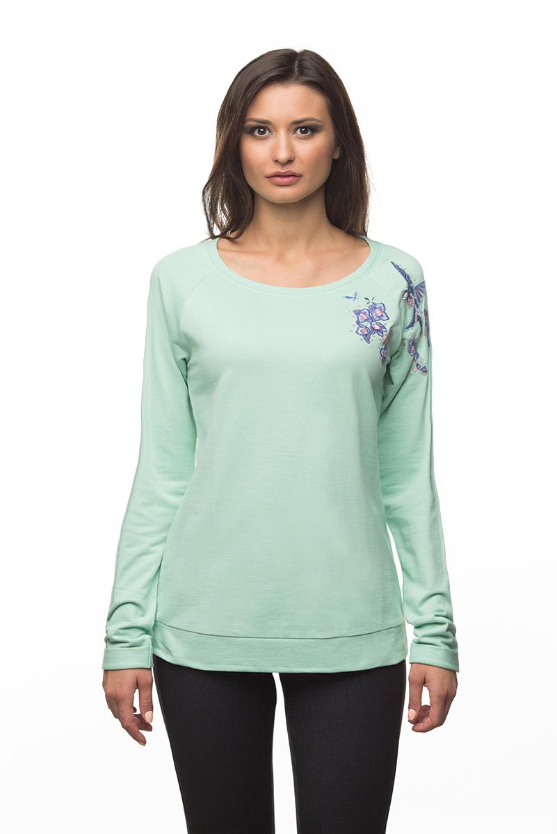 Купить Свитшот женский BeGood, цвет: мятный. AW16-BGUZ-710А. Размер XS (42)